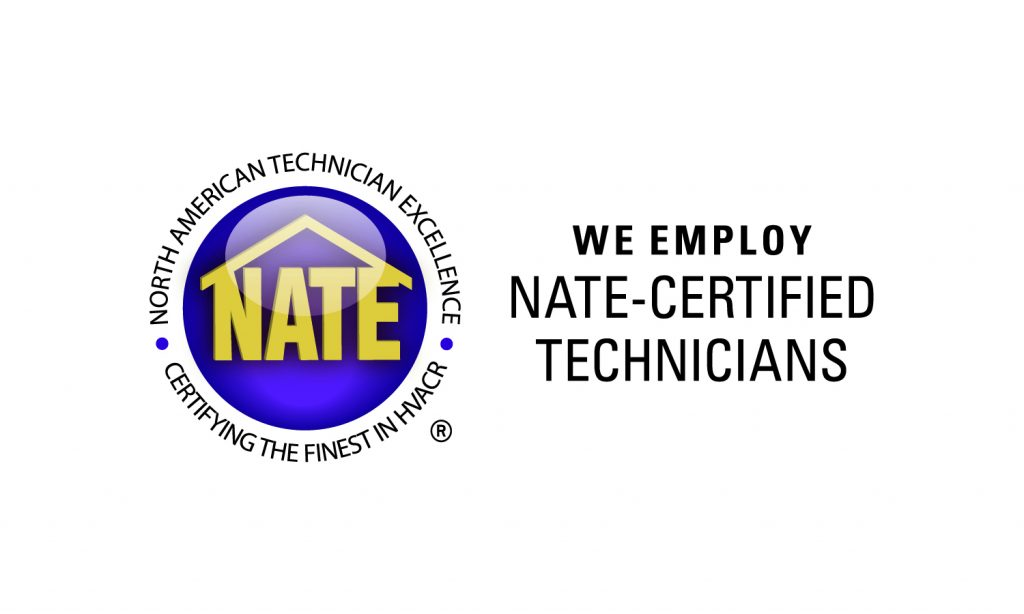 We Employ NATE-Certified Technicians