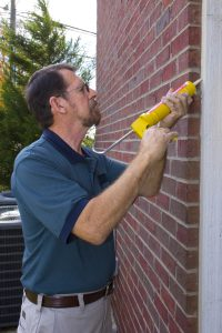 caulking exterior wall