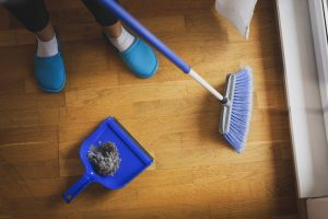 dusty floor broom
