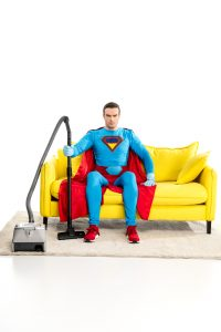 Superman vacuum couch