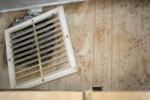 Moldy, smelly vent