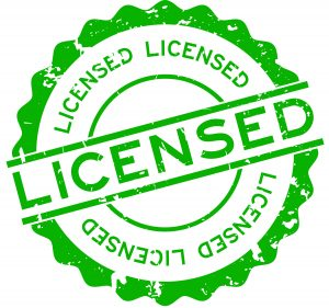 Green licensed seal