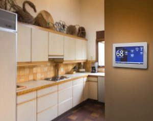 thermostat in home kitchen