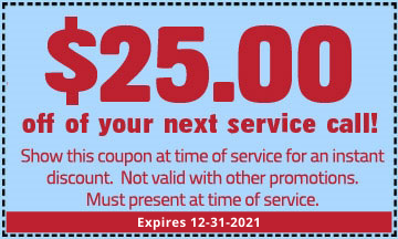 $25.00 off of your next service call!